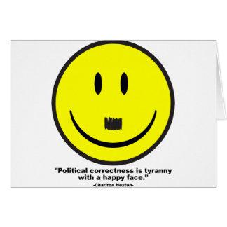 politische Korrektheit Grußkarte