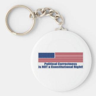 Politische Korrektheit Standard Runder Schlüsselanhänger
