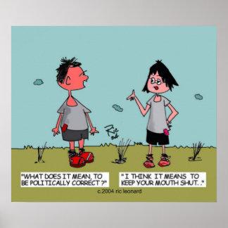 Politische Korrektheits-Cartoon Plakat