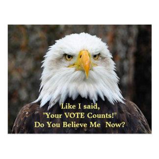 Politische Satiren-amerikanische Weißkopfseeadler Postkarte