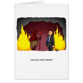 """Politische Spaß-""""gerade für Lachen"""" Gruß-Karte Grußkarte"""