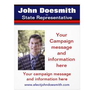 Politische Wahl-Kampagnen-Flyer-Schablone Flyer