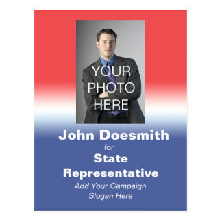 Politische Wahlkampf-Postkarten-Wahl