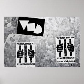 Politische Wand-Schablone Poster