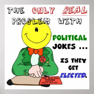 Politische Witze erhalten gewählt Poster