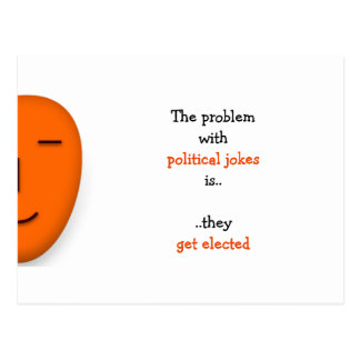 Politische Witze erhalten gewähltem | lustige Postkarte