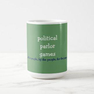 politische Wohnzimmerspiele Kaffeetasse