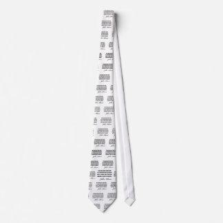 Politische Zitate durch John Adams Bedruckte Krawatten