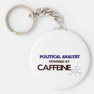 Politischer Analyst angetrieben durch Koffein Schlüsselanhänger
