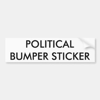 Politischer Autoaufkleber