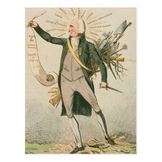 Politischer Cartoon Thomas Paine Postkarten