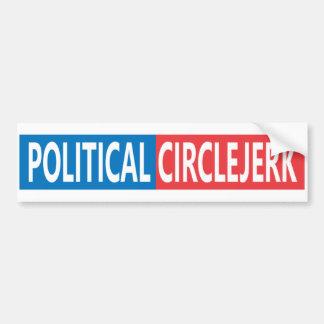 Politischer CircleJerk Autoaufkleber