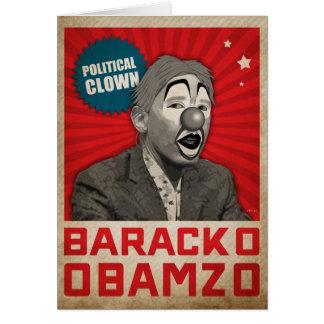 Politischer Clown Grußkarte