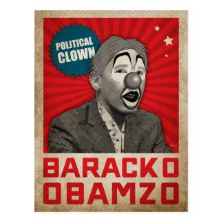 Politischer Clown Postkarte