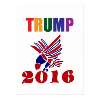 Politischer Entwurf Donald Trump Postkarte