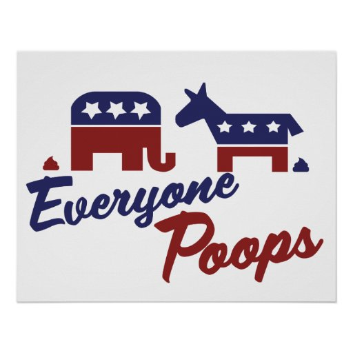 Politischer Humor jeder kackt Posterdruck