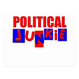 Politischer Junkie Postkarte
