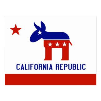 politischer Kalifornien-Demokrat Postkarten