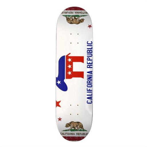politischer Kalifornien-Demokrat Individuelle Skateboarddecks