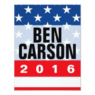 Politischer Konservativer Bens Carson 2016 10,8 X 14 Cm Einladungskarte