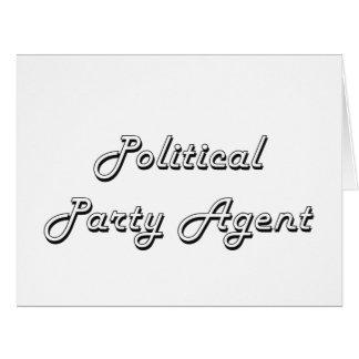 Politischer Party-Agent-klassischer Job-Entwurf Riesige Grußkarte
