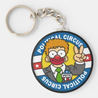 Politischer Zirkus Keychain Standard Runder Schlüsselanhänger