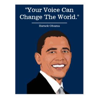 Politisches | Demokrat | Barack Obama Zitat Postkarte