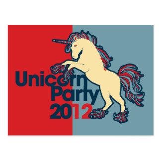 Politisches Parodieunicorn-Party Postkarte