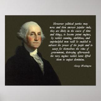 Politisches Partys-Zitat George Washington Plakatdruck