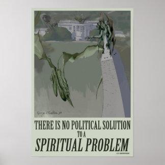 politisches Plakat des geistigen Problem-13x19