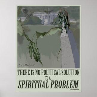 politisches Plakat des geistigen Problem-18x24
