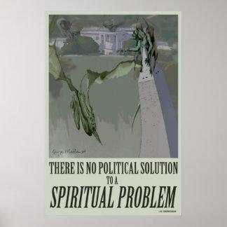 politisches Plakat des geistigen Problem-20x30