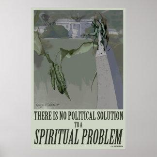 politisches Plakat des geistigen Problem-24x36