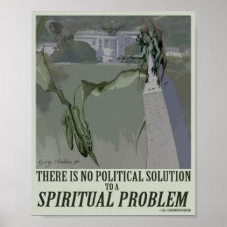 politisches Plakat des geistigen Problem-8x10