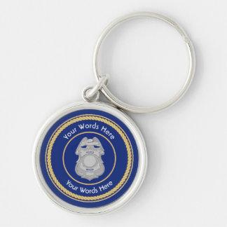 Polizei-Abzeichen-universelles Schild Keychain Schlüsselanhänger
