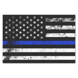 Polizei angeredete beunruhigte amerikanische seidenpapier