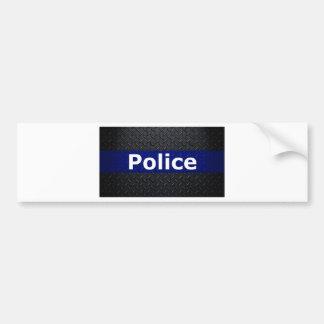 Polizei-Diamant-Platte verdünnen Blue Line Autoaufkleber
