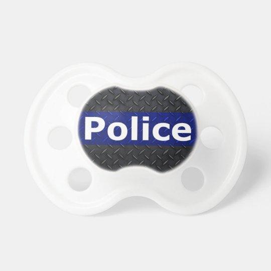 Polizei-Diamant-Platte verdünnen Blue Line Baby Schnuller