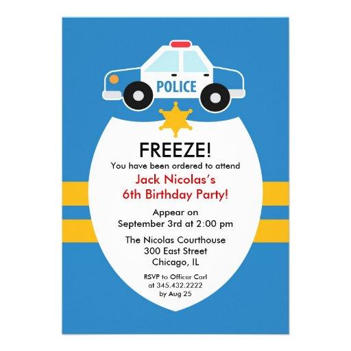 Polizei-Geburtstags-Party Einladung