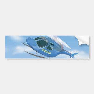 Polizei-Hubschrauber Autoaufkleber
