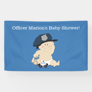 Polizei-Offizier-Baby-Polizist-Gewohnheits-Fahne