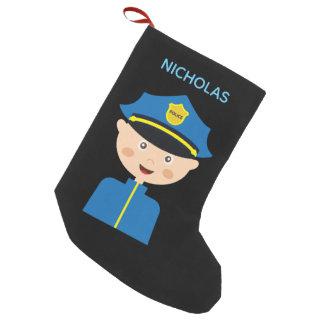 Polizei-Offizier - Gesetzdurchführung - Cartoon Kleiner Weihnachtsstrumpf