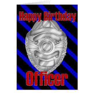 Polizei-Offizier-Sheriff-Abzeichen-alles- Gute zum Karte