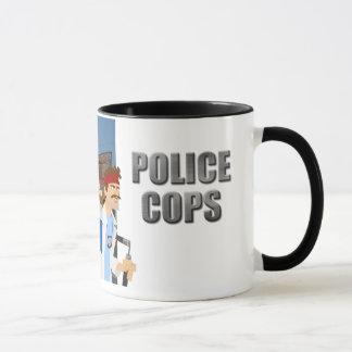 Polizei-Polizisten - die Tasse
