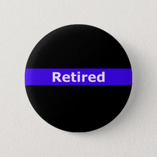 Polizei Retirted verdünnt Blue Line Runder Button 5,7 Cm