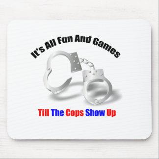 Polizei-Spaß - Spaß und Spiele Mousepad