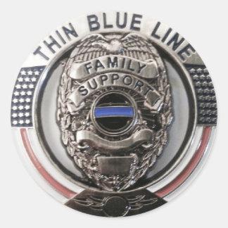 Polizei stützt sich runder aufkleber