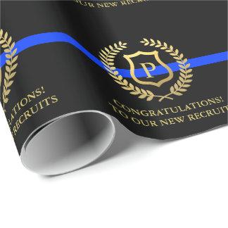 Polizei verdünnt blaue Linie kundenspezifisches Geschenkpapier
