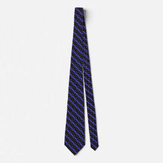 Polizei verdünnt blaue Linie US Flagge Krawatte