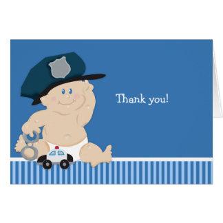 POLIZEIBEAMTE Babyparty danken Ihnen Anmerkungen Karte